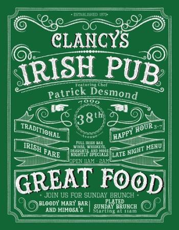 Clancy's Irish Pub: Great Food, Traditional Irish Fare, Happy Hour and Late Night Menu