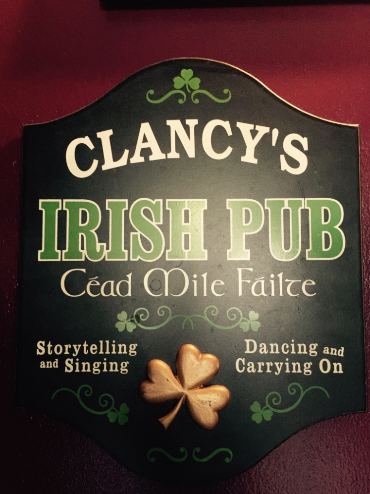Clancy's Irish Pub: Storytelling, singing, dancing and carrying on